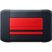 Hard disk extern APACER AC633 1TB 2.5 inch USB 3.1 shockproof military Red