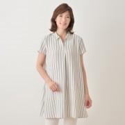Provador たてスリムなサラサラ シャツチュニック【QVC】40代・50代レディースファッション