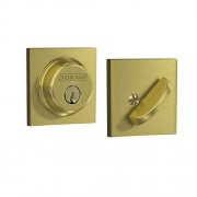 Schlage Lock Company B60 608 COL Single Cylinder Deadbolt with Collins Trim, Satin Brass