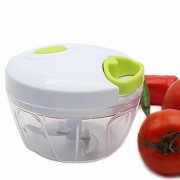 Amiraj Plastic Vegetable Cutter HANDY CHOPPER White Set Of 1
