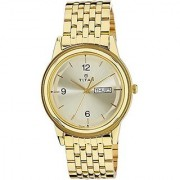 Titan Quartz Beige Round Men Watch 1638YM02