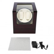 TMISHION Estuche Bobinadora para Relojes, Caja Giratora 2+0 Almohada de Felpa Flexible, Carcasa de Madera, Motor de Calidad y Silencioso Relojes Organizadora y Exhibición(1#)