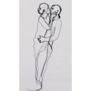 Werk aan de Muur Schilderij De Innigheid / La Tendresse / The Ardour (gezien bij vtwonen) - Canvas - 35x60