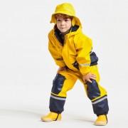 Didriksons Boardman yellow fleecefodrat regnset (Stl: 90, 100, 110, 120, 130, 140, )