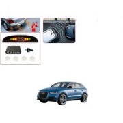 Auto Addict Car White Reverse Parking Sensor With LED Display For Audi Q3