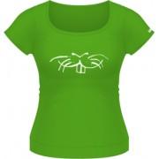 Tricou cu mustati - M - Verde - Adler