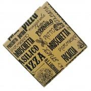 Cutie Pizza Natur Model Modern Basilico, 32x3.5x32 cm, 100 Buc/Bax - Ambalaje din Carton Maro Imprimat