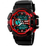 Skmei WR50M Red Analog With Digital latest Designing Stylist Sport Watch For Men Boys