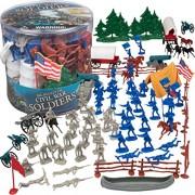 SCS Direct Big Bucket Civil War Army Men Action Figures - Set of 100