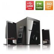 SPEAKER, Microlab M700U, 2.1, 46W RMS, 18W + 2x14W, USB/SD, FM Radio, Remote (mcrlbm700u21)