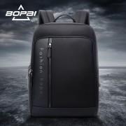 BOPAI Waterproof Black Bakcpacks for Business/OL USB Charging School Notebook Backpack Bags Office Men Working Travel Backpack