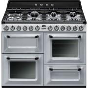 Aragaz SMEG Victoria TR4110S1, 110X60cm, 7 arzatoare, cuptor triplu electric, timer, aprindere electronica, argintiu