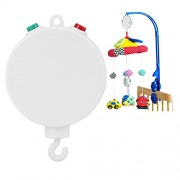 Yosoo Crib Musical Box, Baby Infant Bed Hanging Music Electric Bell with 12Pcs Looping Sweet Song Without Brackets Mobiles Battery-Operated