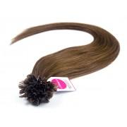 Asijské vlasy na metodu keratin odstín 4 Délka: 46 cm, Hmotnost: 0,5 g/pramínek, REMY kvalita