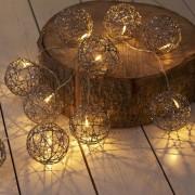 Catena luminosa SIRIUS con sfere - 10 diodi, 1,8 m