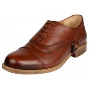 Buttons & Laces Lace Up For Men(Brown)