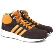 ADIDAS NEO CLOUDFOAM RACE WTR MID Mid Ankle Sneakers For Men(Brown, Tan)