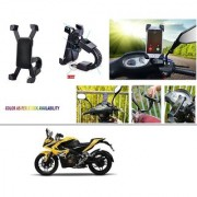 AutoStark Motorcycle Mount Cell Phone Holder/Installed to Motorcycle Rearview mirror Phone Mount For Bajaj Pulsar RS 200