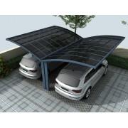 Carport Papillon 2 voitures 5x6m gris anthracite