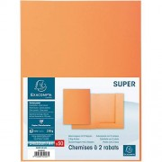 Exacompta Chemises 2 rabats Exacompta A4 Orange 210 g/m² Carte 50 Unités