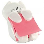 Pop-Up Note Dispenser Cat Shape, 3 X 3, White