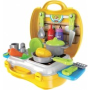 Set bucatarie de jucarie pentru copii 21 piese 3 ani + Topi Toy