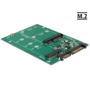 DeLock Converter SATA 22 pin > 1x M.2 + 1x mSATA 62670