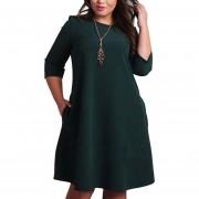 Vestido Casual E-Thinker para Mujer-Verde