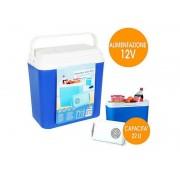 Frigo portatile 22 litri per spiaggia campeggio con alimentazione accendisigari