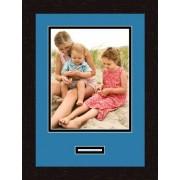 ArtToFrames Arte a marcos doble-multimat 468-817/89-FRBW26061 alfombrilla de fotos con Collage enmarcado alfombra doble con 1-8 x 10 y 1-1 x 3 aberturas y café exprés marco
