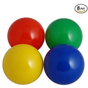 Sky Bounce Plastic Assorted Soft 75mm Balls For Ball Pits or Toddlers (Pack of 8 Assorted Balls)