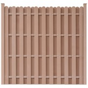 vidaXL WPC Fence Panel with 2 Posts 180x180 cm Square Brown