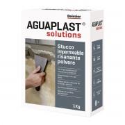 AGUAPLAST Stucco Impermeabile Polvere Grigio 1 Kg Spessori Fino A 20mm Interno Esterno