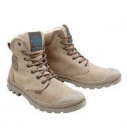 Palladium Waterproof Leder-Boots, 39 - Hellbraun