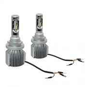 ELECTROPRIME 1 Pair H15 CanBUS COB LED with Aluminum Alloy Housing Headlight - Pure White