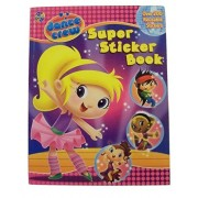 """Educational Super Sticker Book ~ Dance Crew (4-in-1 with Over 200 Reusable Stickers; 8.5"""" x 11""""; 2011)"""