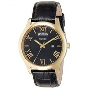 Guess Analog Black Round Watch -W0792G4