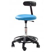 Rolléco Siège ergonomique petite enfance base plastique Assise simili cuir Bleu