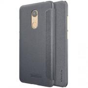 NILLKIN SPARKLE mûanyag védõ tok / hátlap - FEKETE - oldalra nyíló flip cover - XIAOMI Redmi Note 5 / XIAOMI Redmi 5 Plus - GYÁRI