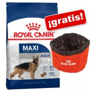 Royal Canin Size 12/15 kg + comedero de viaje ¡gratis! - Maxi Adult Sterilised (12 kg)