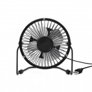 Asztali ventilátor, USB csatlakozóval, fekete
