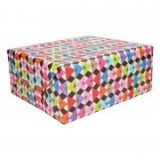 Shoppartners Inpakpapier/cadeaupapier gekurde dakjes print 200 x 70 cm op rol