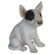 Geen Tuinbeeldje Bull Terrier hond 18 cm