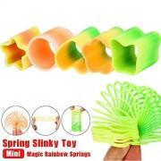 Magicswizz Brand Amazing Toy Mini Magic Rainbow Springs Circles Slinky Kill Time Rainbow Spring Slinky Toy