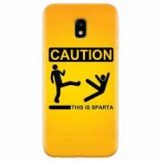 Husa silicon pentru Samsung Galaxy J3 2017 This Is Sparta Funny Illustration