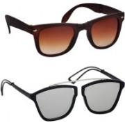 spexra Wayfarer, Cat-eye Sunglasses(Silver, Brown)