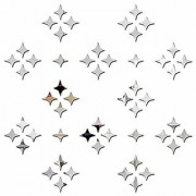 Bikri Kendra Silver 50 Star - Shine Stars Decoration Glass Ceiling Reflective - 3D Acrylic Mirror Wall Stickers For Home & Office