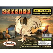 Puzzled Rooster Wooden 3 D Puzzle Construction Kit