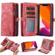 Apple CaseMe Multifunctional iPhone 11 Flipväska i läder - röd