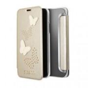 Book Case Guess Studs And Sparkle Für Apple Iphone X Beige